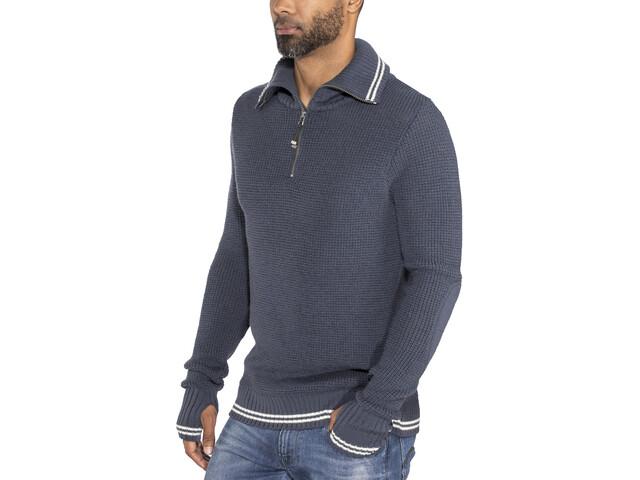 Devold Randers Zip Neck Shirt Men Night/Offwhite